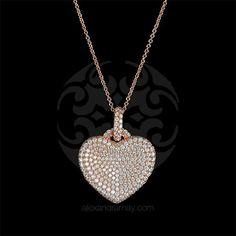 Lustre of London Rose Gold Heart Pendant Necklace (PN503CVR)   Alexandra May Jewellery