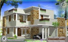 1793 square feet modern house elevation - Kerala home design and floor plans Best Small House Designs, Modern Small House Design, Contemporary House Plans, House Front Design, Home Design, Interior Design, Contemporary Architecture, Set Design, Contemporary Design