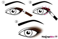 schema su come sfumare la matita occhi Eye Makeup Steps, Smokey Eye Makeup, Make Me Up, Eye Make Up, Dance Makeup, Makeup Lessons, Clear Eyes, Eyelash Curler, My Life Style
