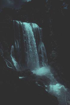 modernambition:   Dark Waterfall | Instagram