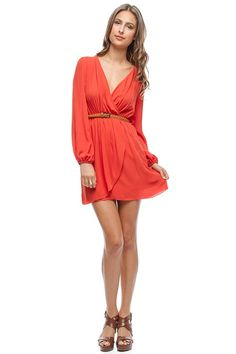 Madeline Dress in Persimmon on Emma Stine Limited