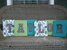 canvas covered with letters - Room Ideas