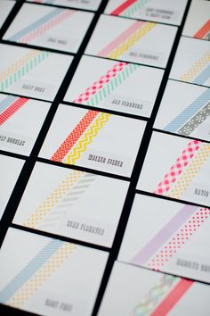Escort cards | Wedding & Party Ideas | 100 Layer Cake