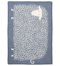 Adore this Woolen Children's Blanket with Large Sheep  of the Finnish brand Lapuan Kankurit.  Available in the Bobbiño Kids Store www.bobbino.nl. We ship worldwide!  #baby #kids #blanket #sheep #scandinavian #room
