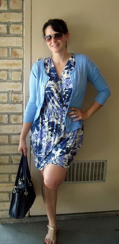 Faux Wrap Dress With An Easy To Follow Patterndrafting Tutorial. Excellent drawings make this pattern super easy to draft to any size!