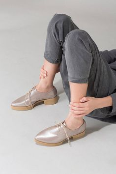 Ivory Leather Platforms, Women Oxfords, Flat Leather  Shoes, Leather Oxfords, Comfortable Platform Heels, Pointy Flats, Custom oxfords