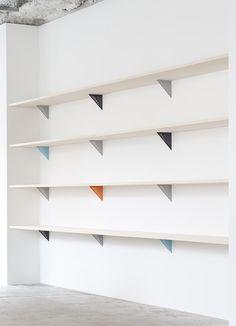 shelving, home, studio, interior, bookcase, storage, colour pop, clever, design, interior