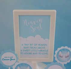 Angel/Heaven Themed Baptism | CatchMyParty.com
