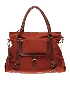 Ooo... ASOS Canvas & Leather Strapping Bag