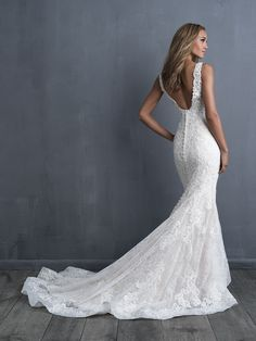 Wedding Dress by Allure Couture - Search our photo gallery for pictures of wedding dresses by Allure Couture. Find the perfect dress with recent Allure Couture photos. Boho Wedding Dress With Sleeves, Western Wedding Dresses, Long Sleeve Wedding, Sexy Wedding Dresses, Princess Wedding Dresses, Designer Wedding Dresses, Bridal Dresses, Pronovias Wedding Dress, Sheath Lace Wedding Dress