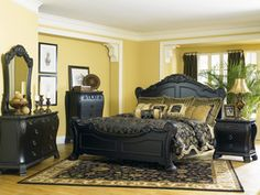 antique black wood elegant bedroom furniture set antique black bedroom furniture