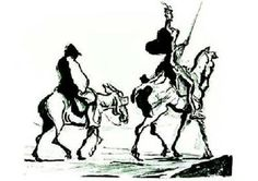 """Don Quixote and Sancho Panza"" by Honore Daumier (1850)"