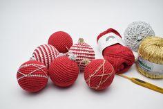 Hæklet julekugler, gratis hækleopskrifter, hæklede julekugler, hækle opskrifter, gratis hækle inspiration, hækle mønstre