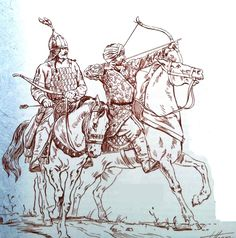 Saljuq tribal leader and horse-archer, late XI to early XII c. Kingdom Of Jerusalem, Old Warrior, Turkish Soldiers, Houseboats, Historical Art, Knights Templar, Second World, Armors, Dragon Ball Z