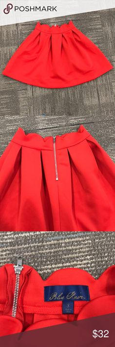 Circle red flare skater skirt Circle red flare skater skirt. Stretchy and super cute. 😍 worn as Taylor Swift for Halloween. In brand new condition. blue rain Skirts Circle & Skater