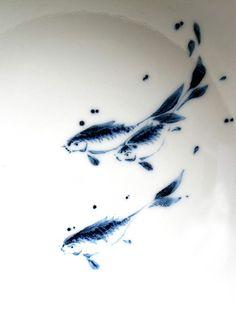 Ceramics by Richard Heeley at Studiopottery.co.uk - 2012. fish detail. _postcard_