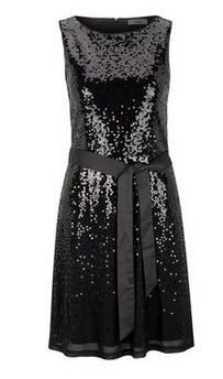 s.Oliver PREMIUM Pailletten-Kleid mit Bindegürtel