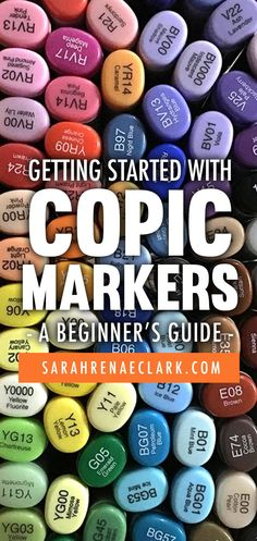 Learn the basics of getting started with Copic Markers in this beginner's guide by Heidi Berthiaume. Learn the types of Copic markers available, how to decode the Copic Color System and how to choose the right paper for your coloring. Read it at www.sarahrenaeclark.com   #copic #copicmarker #coloringbooks