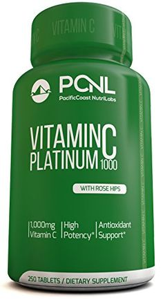 PacificCoast NutriLabs 1000mg Vitamin C With Rose Hips No Sugars No Soy Free Ebook 250 Tablets ** Learn more by visiting the image link.