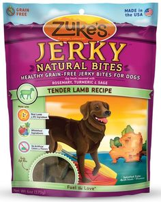 Zuke's Jerky Natural Bites Tender Lamb Dog Treats USA Made 6 oz
