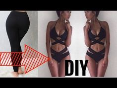 How To Turn Your Old BORING Leggings Into A BIKINI | DIY Bikini Hacks