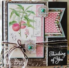 """""""Thinking of You"""" Botanical Tea card by Pam Bray #graphic45"""