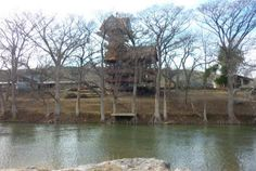"The ""Drums Along the Guadalupe"" TREEHOUSE LODGE 15 miles from New Braunfels  Very expensive"