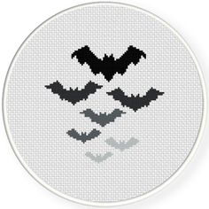 FREE for Oct 15th 2015 Only - Bats Cross Stitch Pattern More