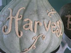 Writing messages on pumpkins-Scarring the pumpkin