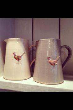 Jane Hogben Pheasant jugs