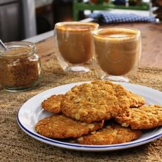 Giant Chewy Anzac Biscuits. I want to make these for both my Granddads for Anzac Day