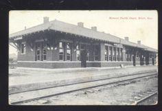 Beloit Kansas Missouri Pacific Railroad Depot Train Station Vintage Postcard | eBay