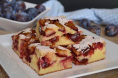 Citromhab: Szilvás sütemény Plum Cake, Hungarian Recipes, Cakes And More, Waffles, French Toast, Cheesecake, Deserts, Lemon, Food And Drink