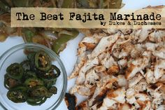 A great fajita marinade. I used peanut oil, for lack of coconut oil, and skipped the peppers just because i didn't have any on hand. I used two lbs of chicken thigh meat and the results were delicious!