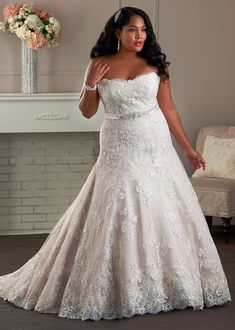 Bonny - strapless lace wedding gown