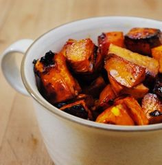 Balsamic Sweet Potatoes | Except add more balsamic and butter and a tad more brown sugar.  I also added a couple honey drizzles.  Pop in microwave for a few minutes.