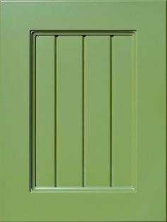 """Gurabo Grooved Flat Panel Door  Available Material: MDF Color Shown: Moss Paint Available in All Outside Profiles - Shown with 18"""" Roundover Outside Profile Moss Paint, Custom Cabinetry, Panel Doors, Cabinet Doors, Color Show, Profile, Traditional, Flat, Contemporary"""