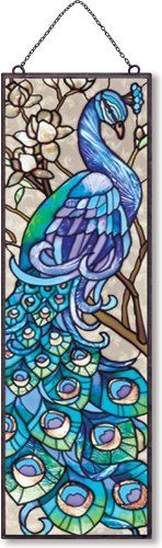 Amazon.com: Joan Baker Designs AP201 Peacock Glass Art Panel, 5 by 16-Inch: Home & Kitchen
