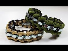 Instructions for how to tie the cloven hex nut parachute cord survival bracelet without buckle in this easy step by step DIY video tutorial. Paracord Braids, 550 Paracord, Paracord Bracelets, Survival Bracelets, Hemp Bracelets, Parachute Cord Bracelets, Nut Bracelet, Paracord Projects, Paracord Ideas