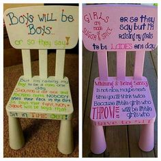 His & Hers Timeout Chairs Exist, Because Even Discipline Has To Be Pink And Sparkly Scary Mommy