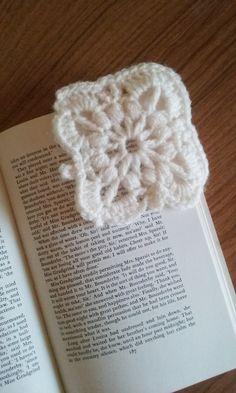 Crochet Bookmark cream crocheted corner by JensCrochetandCrafts                                                                                                                                                                                 More