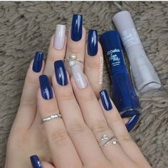 Semi-permanent varnish, false nails, patches: which manicure to choose? - My Nails Stylish Nails, Trendy Nails, Perfect Nails, Gorgeous Nails, Dodger Nails, Hair And Nails, My Nails, Manicure E Pedicure, Pedicure Ideas