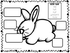 Rabbit Labeling Worksheet (free; from What the Teacher Wants)