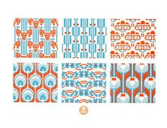 Free geometric & retro cross stitchpatterns, would work for knitting too.