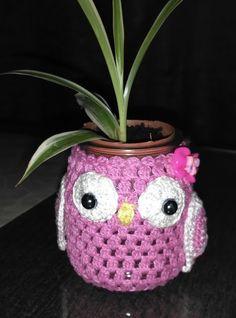 Crochet Home Decor, Crochet Crafts, Crochet Projects, Crochet Jar Covers, Crochet Mug Cozy, Knitted Owl, Crochet Kitchen, Easy Crochet Patterns, Handmade Accessories