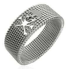Stainless Steel Mesh Design Ring For Men men's jewellery Barrette, Urban Male, Ring Size Guide, Stainless Steel Mesh, Size 10 Rings, Steel Jewelry, Ring Designs, Fashion Rings, Rings For Men