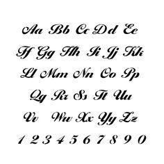 girly handwriting alphabet
