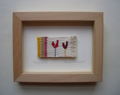 Fragments 1. Unique miniature hand woven tapestry by Fiona Rutherford.