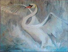 zwaan Pastel, Bird, Creative, Animals, Painting, Swans, Tutorials, Animales, Pie