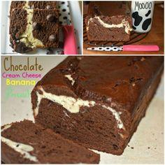 banana chocolate cream cheese bread